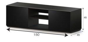 Televizor altlığı TRD 150-GBLK-GBLK