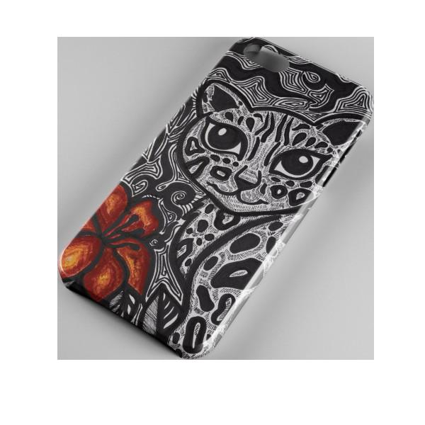 iPhone 7/7S Leopard qirmizi gulle  - 1