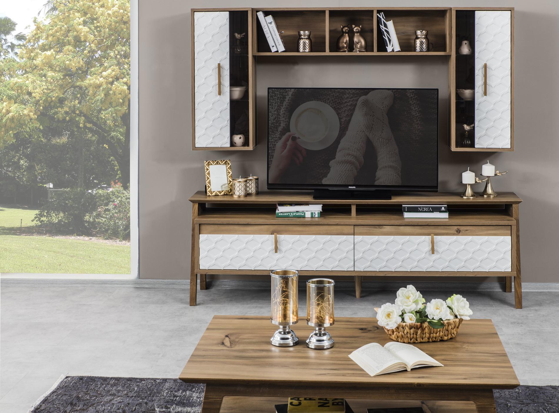 Gala-Rota tv-stend (ağ)