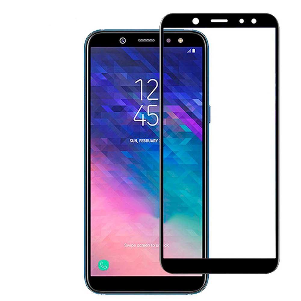 Şüşə 4D Full BLACK Samsung A6 Plus 2018 DS (A605)  - 1