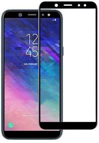 Защитное стекло 4D Full BLACK Samsung A6 2018 DS (A600)  - 1
