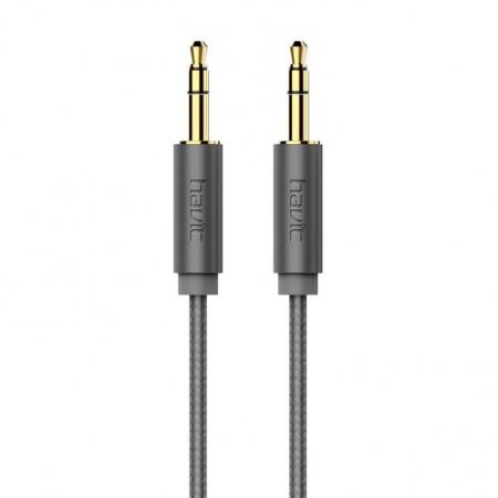 AUX Cable HV-CB606X Gray  - 1