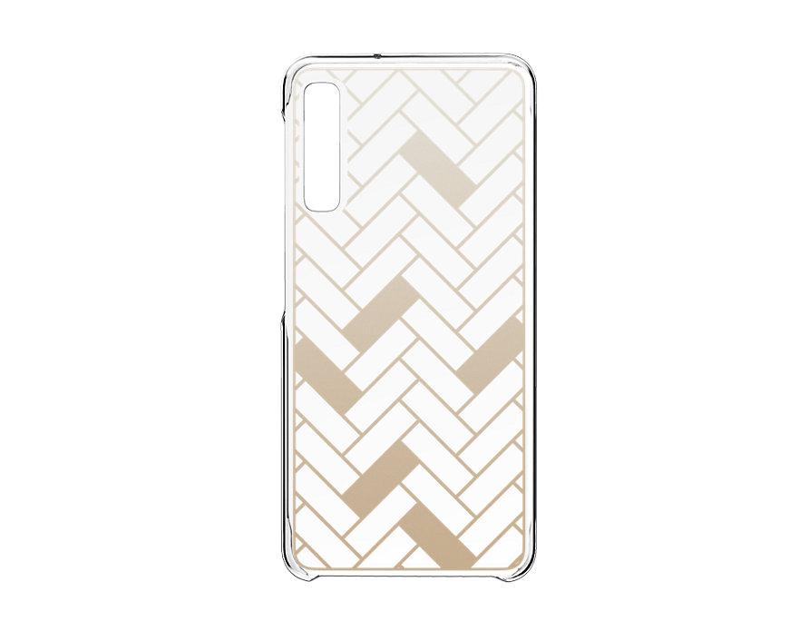 Anymode Pattern Hard Case А7 2018 Gold Herringbone GP-A750AMCPAAB¶  - 1