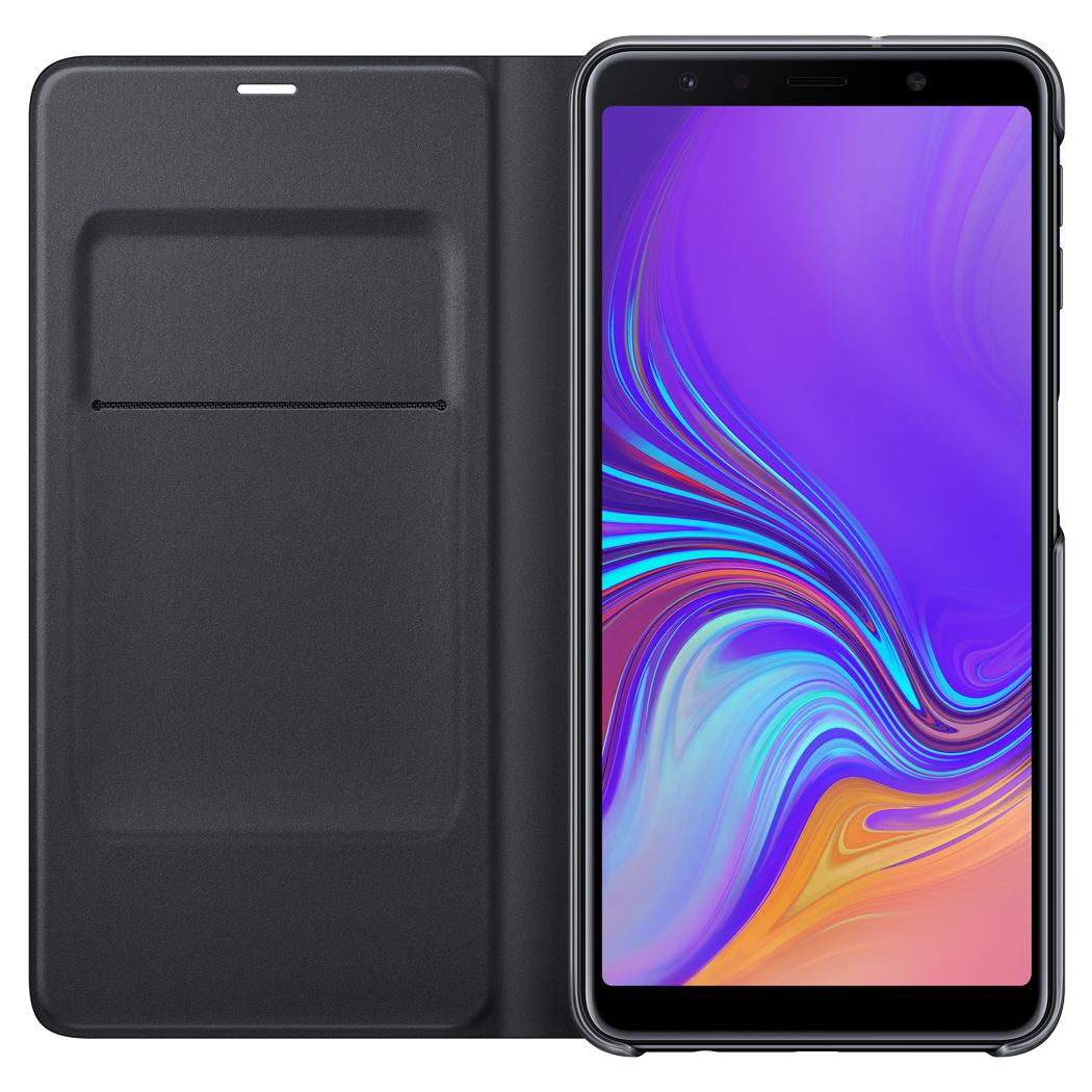 Samsung Wallet Cover A7 2018 Black EF-WA750PBEGRU  - 1