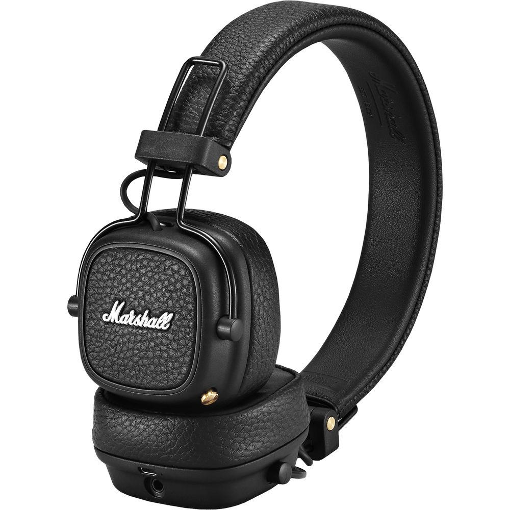 Qulaqlıq Marshall Major 3 Bluetooth Black  - 3
