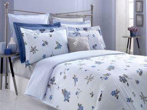 Elina iki nəfərlik yataq dəsti (mavi)