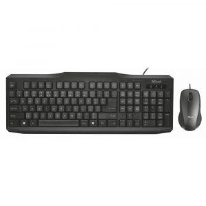 Trust Classcline Wired RU Klaviatura mouse ilə