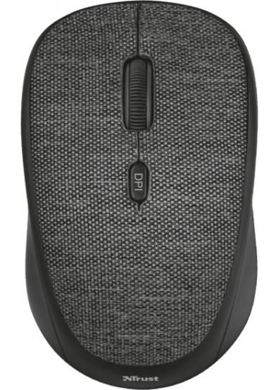 Mouse Trust Yvi Fabric Wireless Black  - 1