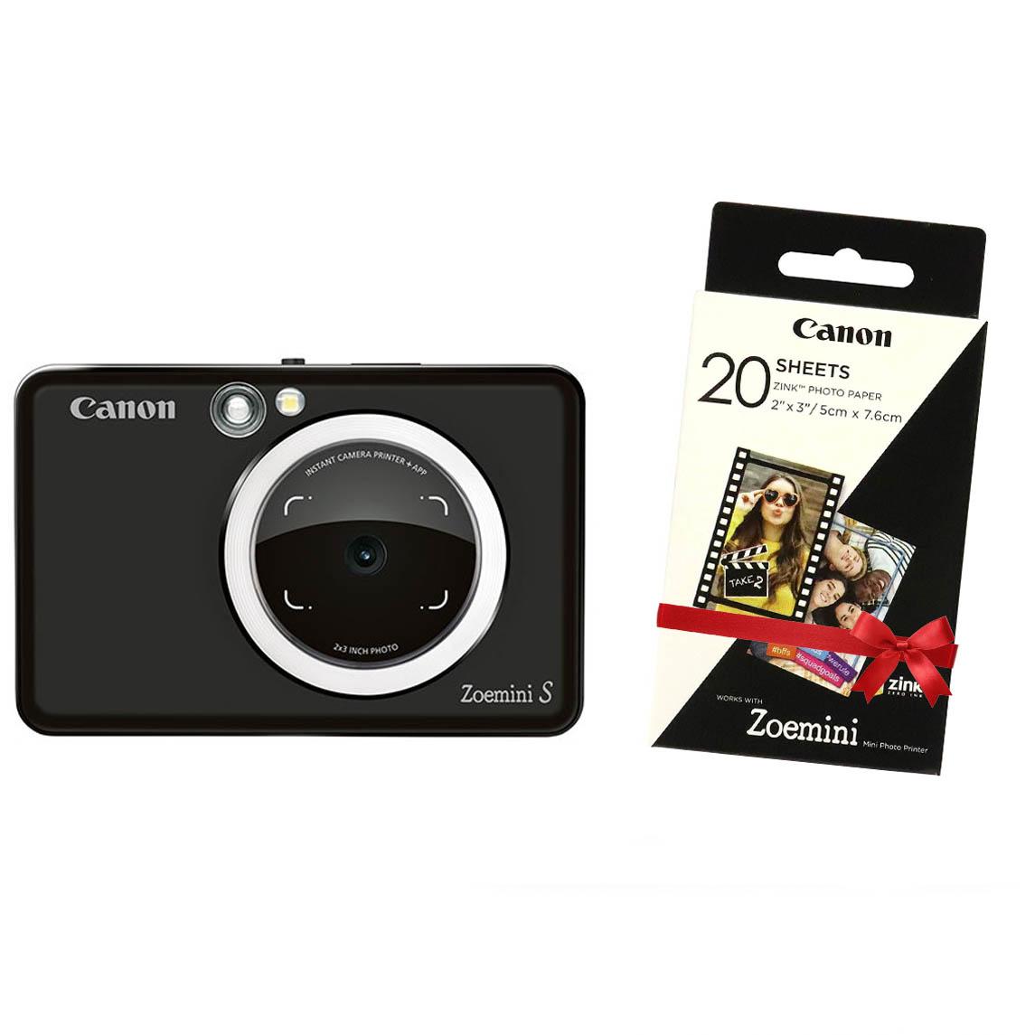 """Canon INSTANT CAM. PRINTER ZOEMINI """"S"""" Matte Black"""
