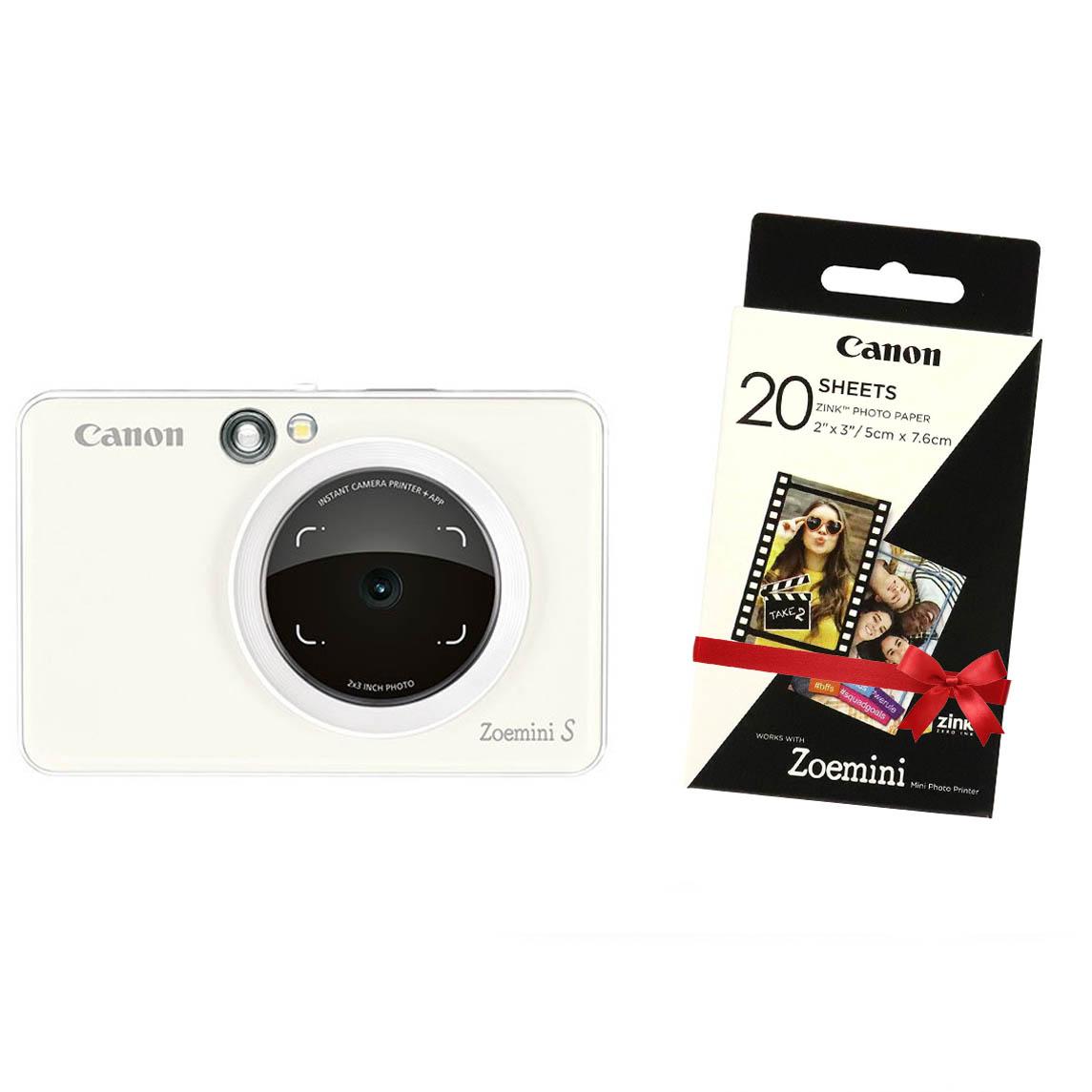 """Canon INSTANT CAM. PRINTER ZOEMINI """"S"""" Pearl White"""