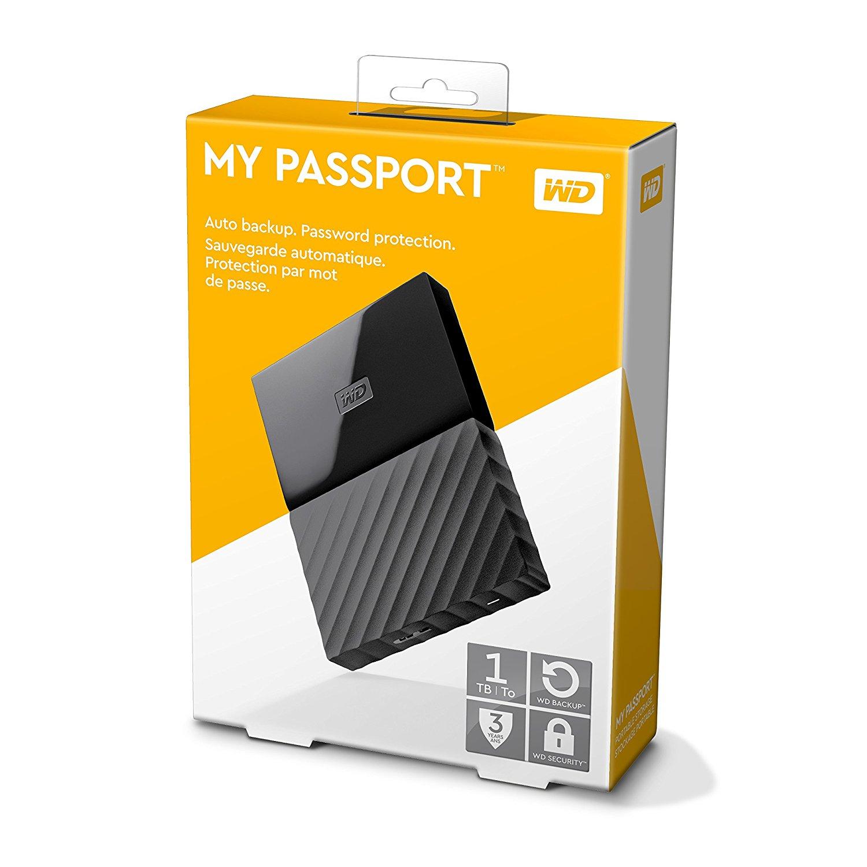 WD Ext. HDD 1TB My Passport Black  - 2
