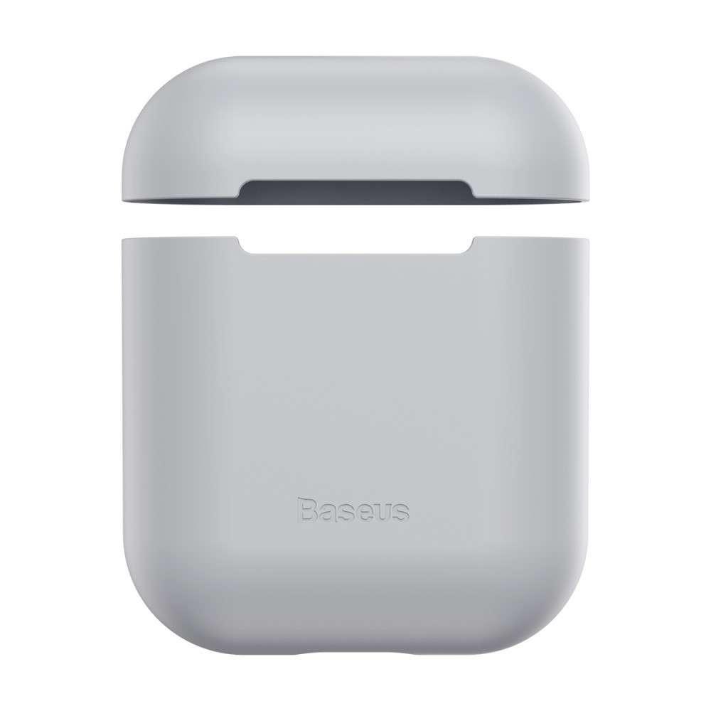 Baseus Silicon Case Airpods 1/2 Grey WIAPPOD-BZOG  - 1
