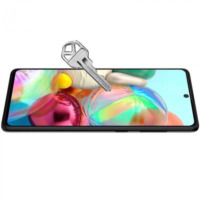 Şüşə 4D Glass Full BLACK Samsung A71 2020  - 2
