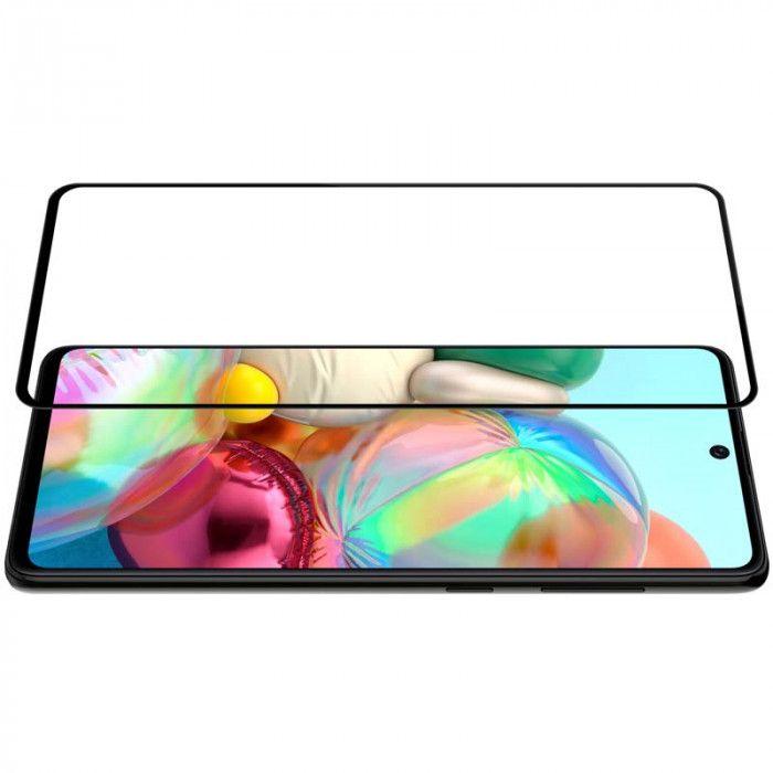 Şüşə 4D Glass Full BLACK Samsung A71 2020  - 3