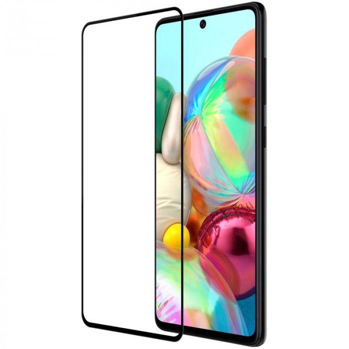Şüşə 4D Glass Full BLACK Samsung A71 2020  - 4