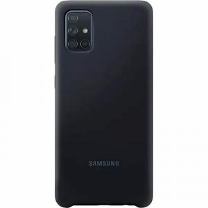 Samsung A71 Silicone Cover Black EF-PA715TBEGRU