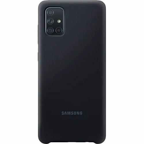 Samsung A71 Silicone Cover Black EF-PA715TBEGRU  - 1