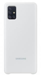 Samsung A71 Silicone Cover Silver EF-PA715TSEGRU