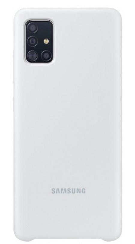 Samsung A71 Silicone Cover Silver EF-PA715TSEGRU  - 1