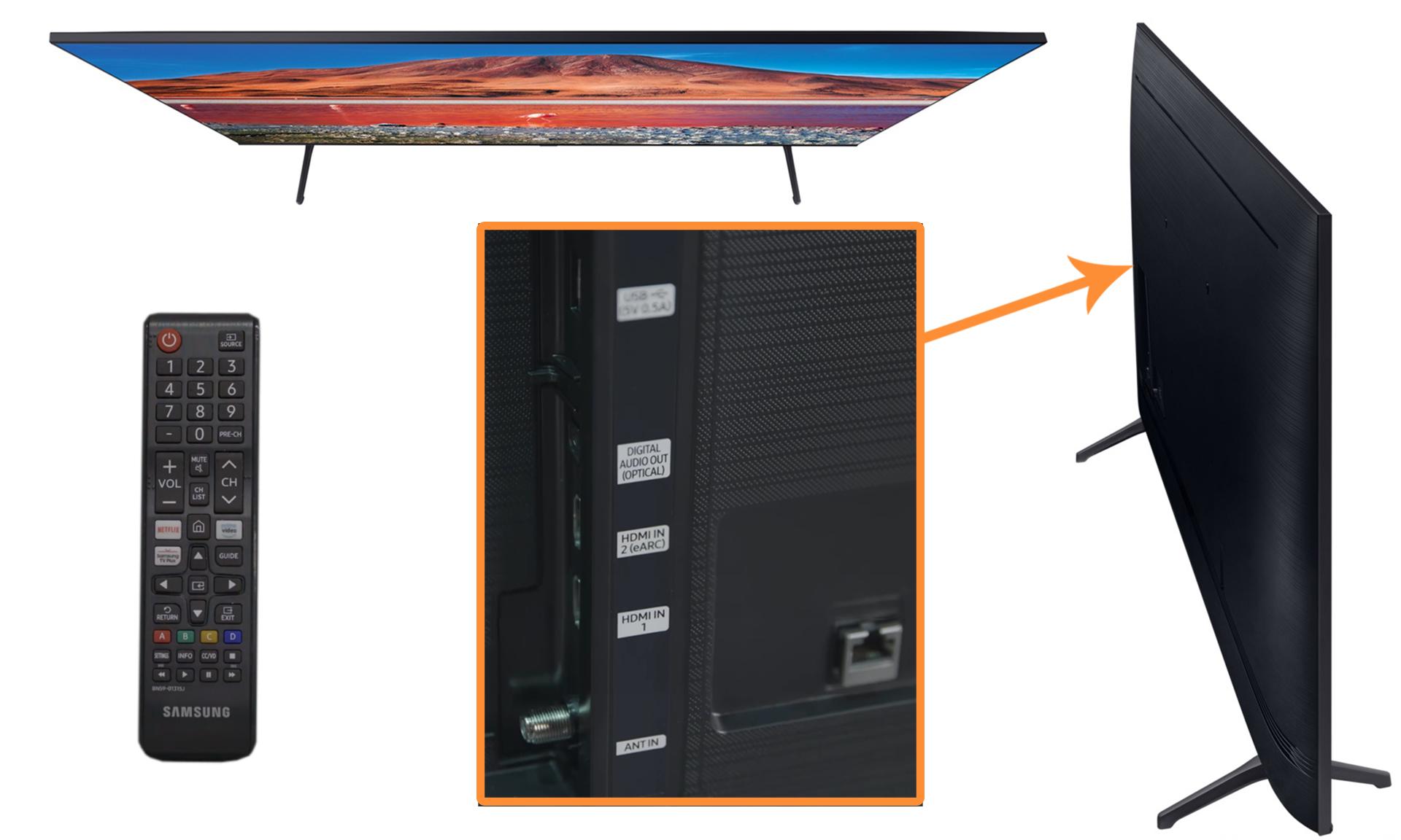 Телевизор Samsung LED UE55TU7170UXRU  - 4