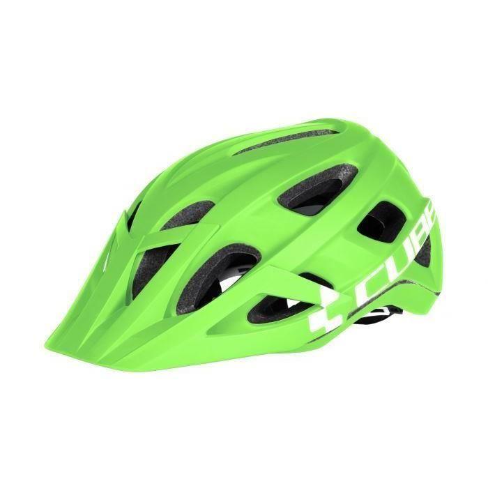 Helmet Cube AM Race L Green-White