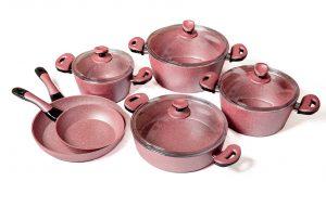 Набор кастрюль CANALI Carla pink (9 предметов)