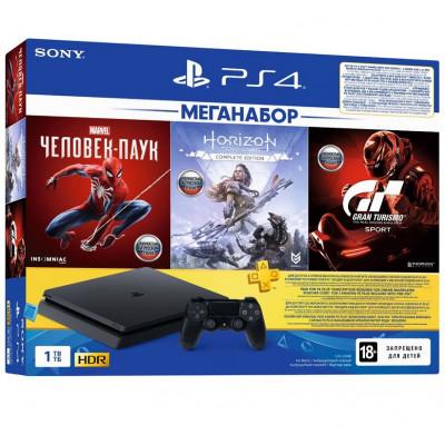 PlayStation4 1TB + 3 Games + PS Plus Black - 1