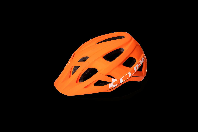 Helmet Cube AM Race L Orange-White