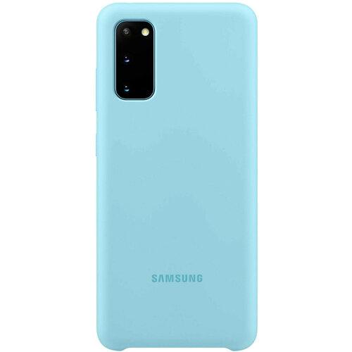 Samsung S20 Silicone Cover Sky Blue EF-PG980TLEGRU