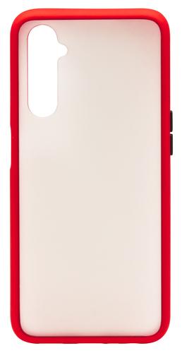 Realme 6 Cover Half Transparent Red