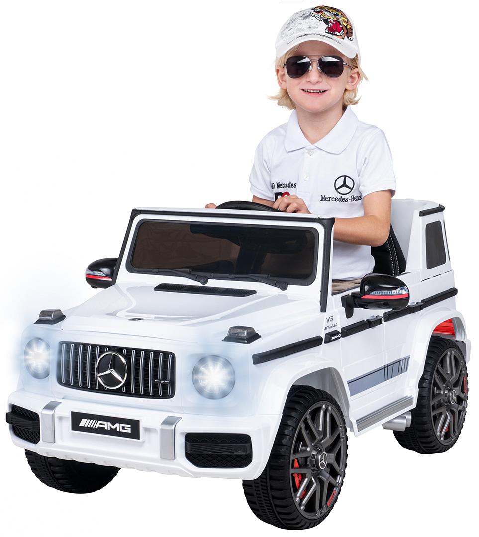 Elektromobil Mercedes Benz G-Wagen AMG JJ263 White  - 3
