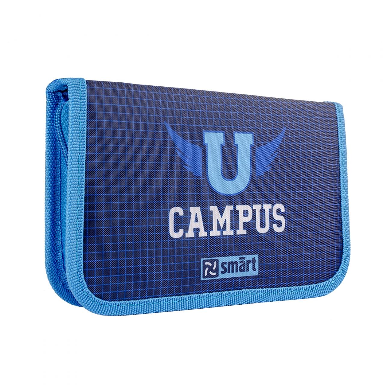 Жесткий пенал  SMART single 20.5x3.2x13  with one flap HP-03 Campus  - 3