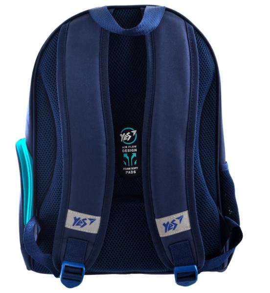 """Школьный рюкзак 36x28x15  YES S-30 Juno  """"Boys style"""" blue  - 2"""