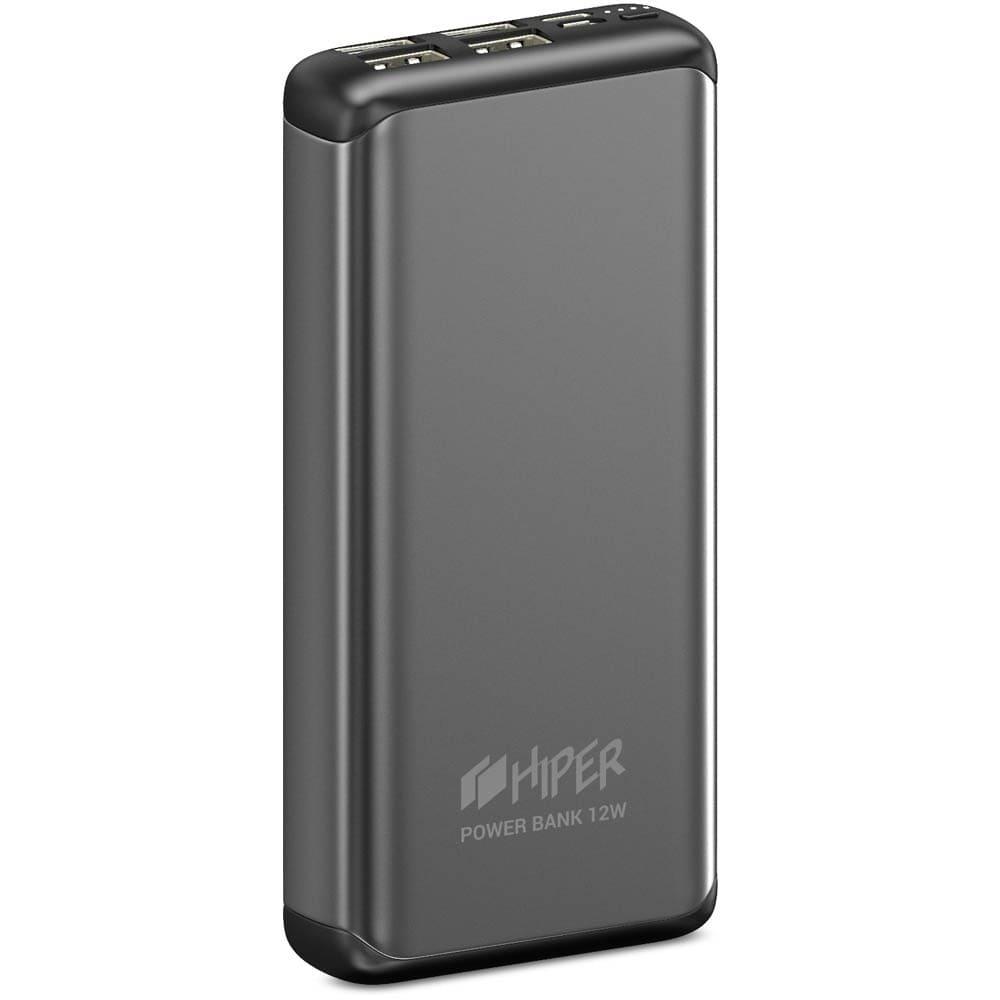 Power Bank Hiper 20000 mAh 4 USB MS20000 Space Gray  - 1