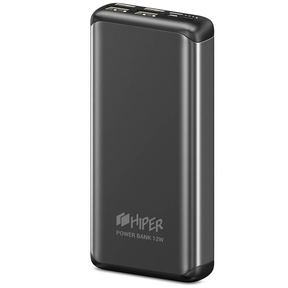 Power Bank Hiper 20000 mAh 4 USB MS20000 Space Gray  - 2