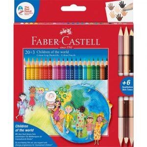 Карандаш 20 цветов +3 Grip Faber Castell 201747