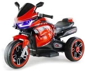 Аккумуляторный детский белый красный мотоцикл CN.1221  - 1