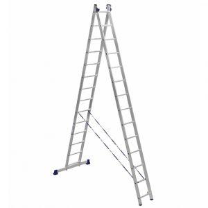 Nərdivan Alumet 14 pilləli iki hissəli aluminium (Tam və /\ şəklində) (H2 5214)
