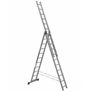 Nərdivan Alumet 3x11 pilləli aluminium  (H3 5311)