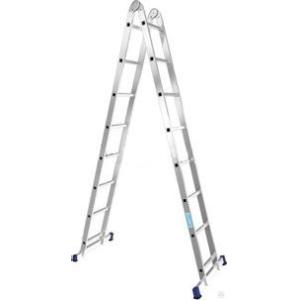Nərdivan Alumet 2x8 pilləli iki hissəli aluminium (Tam və /\ şəklində) (T208)